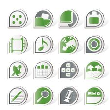Free Phone Performance, Internet And Office Icons Stock Photos - 16916013