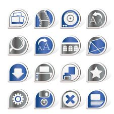 Internet And Website Icons Stock Photo