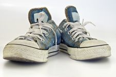Free Old, Dirty Sneakers Over White Background Stock Photos - 16916673