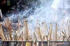 Free Smoke Burning Incense Group Many Royalty Free Stock Photos - 16916788