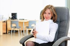 Free Young Girl In His Office Stock Image - 16917351