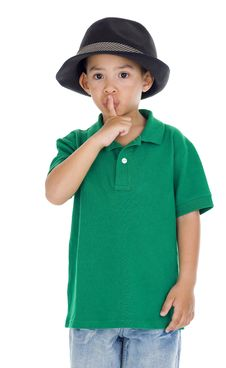 Free Boy With Finger On Lips Stock Photos - 16917763