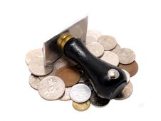 Free Rubber Stamp With Several Coins Horizontal Stock Image - 16917861