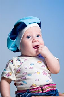 Free Amusing Baby Boy In A Beret Royalty Free Stock Images - 16917969
