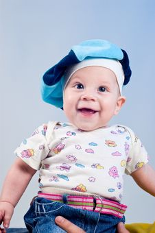 Free Amusing Baby Boy In A Beret Stock Photo - 16918000