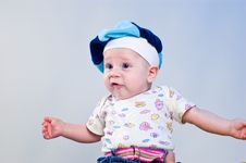 Free Amusing Baby Boy In A Beret Royalty Free Stock Photography - 16918047