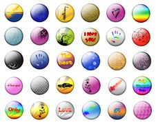 Free Bright Buttons On A White Background Stock Photography - 16918142