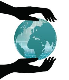 Earth In Human Hands Royalty Free Stock Photo
