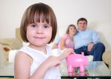 Free Little Girl Hides Her Money Royalty Free Stock Photography - 16918247
