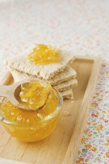Free Citrus Jam And Flat Bread Royalty Free Stock Photo - 16918395