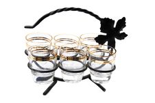 Free Vine Glasses On The Stand Stock Photography - 16918552