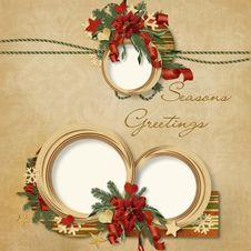 Free Gorgeous Christmas Frame Royalty Free Stock Photos - 16918838