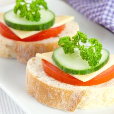 Free Bread With Tomato And Cheese Stock Images - 16918844