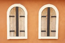 Free Twin Old Wood And Metal Windows Royalty Free Stock Photo - 16918945