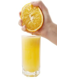 Free Cup Fresh-squeezed Orange Juice Royalty Free Stock Photo - 16919015