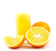 Free Cup Fresh-squeezed Orange Juice And Oranges Royalty Free Stock Photo - 16919065