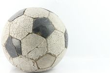 Free Old Soccer Ball On White Stock Photo - 16919140