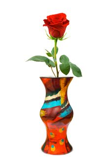 Free Red Rose In Vase Royalty Free Stock Image - 16919536