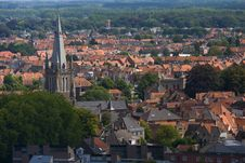 Free Panoramic View Of Bruges. Royalty Free Stock Photos - 16919608