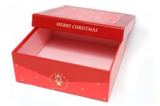 Free Red Gift Box And Christmas Tree Royalty Free Stock Photos - 16919718