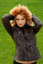 Free Sexual Blonde In Brown Jacket Royalty Free Stock Image - 16921486