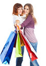 Free Two Teen Girls With Bags Royalty Free Stock Images - 16921779