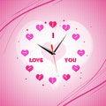 Free Valentine Clock Stock Images - 16921924