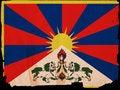 Free Old Vintage Flag Tibet Stock Photo - 16922500