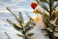 Free Christmas-tree Decorations On Pine Stock Image - 16925811
