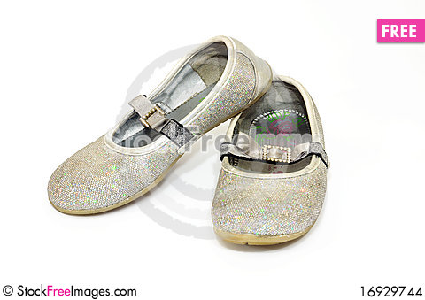 Free Old, Gold Dirty Sneakers Stock Images - 16929744
