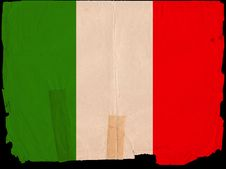 Free Old Vintage Flag Italy Royalty Free Stock Photography - 16921657