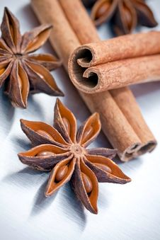 Free Cinnamon Sticks And Star Anise Stock Photo - 16921680