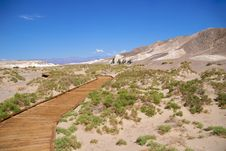 Free Death Valley Boardwalk Salt Creek Stock Photo - 16921690