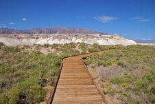 Death Valley Boardwalk Salt Creek Royalty Free Stock Photography