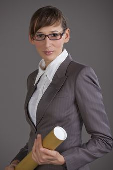 Business Woman With Glasses Stock Photos