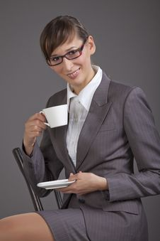 Free Woman Drinking Tea Stock Photography - 16921912