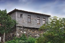 Typical Old Wooden House Royalty Free Stock Photo