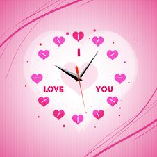 Free Valentine Clock Stock Images - 16921924