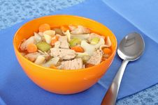 Bowl Of Chicken Noodle Soup Royalty Free Stock Image