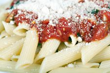 Free Penne With Tomato Sauce Royalty Free Stock Photography - 16922137