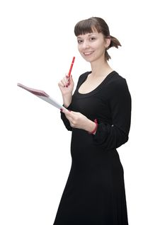 Free Girl With Notebook Royalty Free Stock Photos - 16922198