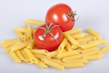Free Penne Rigate With Tomatoes Royalty Free Stock Photography - 16922327