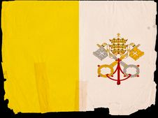 Old Vintage Flag Vatican City Royalty Free Stock Photos