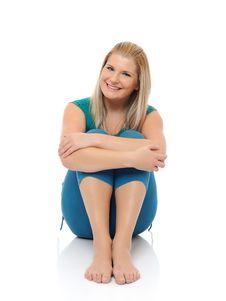 Free Beautiful Happy Woman Doing Fitness Pilates Stock Photos - 16925163