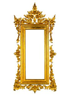Free Golden Thai Style Square Frame Stock Photography - 16925452