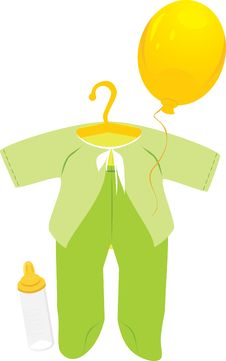 Free Green Suit For A Baby Royalty Free Stock Images - 16925559