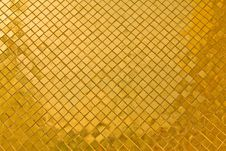 Free Golden Tile Texture Royalty Free Stock Photos - 16925698