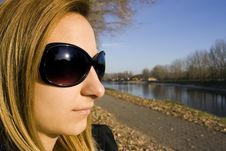 Free Beautiful Girl With Sunglasses Stock Image - 16925851