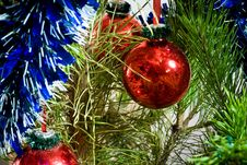 Christmas-tree Decorations Royalty Free Stock Image