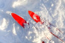 Free Skis Royalty Free Stock Photography - 16926287
